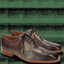 Oxford schoenen Nicolas 1 Oxygen Shade & Lines Lilac Mid Blue Cedro