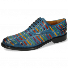 Oxford schoenen Henry 25 Mid Blue Interlaced Multi