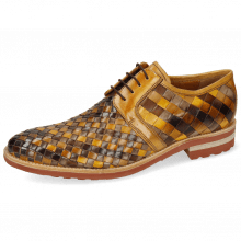 Derby schoenen Brad 1  Woven Vegas Multi Sabbia
