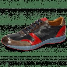 Sneakers Blair 11 Imola Stone Nappa Glove Navy Imola Red Espresso