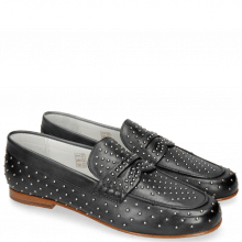 Loafers Caroline 3 Black Rivets