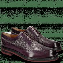 Derby schoenen Trevor 10 Violet Hairon Halftone Viola