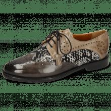 Derby schoenen Selina 41 Grigio Textile Serpete London Fog Oxygen