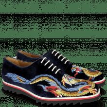Oxford schoenen Clark 25 Velluto Midnight Dragon