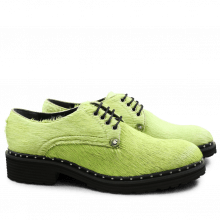 Derby schoenen Sissy 1 Hair On Green Rivets Rook D Black