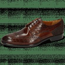 Derby schoenen Bobby 1 Crock Mid Brown Lima Espresso
