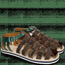 Sandalen Sam 3 Mid Brown Camo Khaki