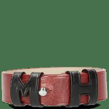 Armbanden Archie 1 Red Loops Black Studs Nickle