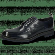 Derby schoenen Eddy 54  Navy Eyelets White Strap