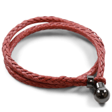 Armbanden Caro 2 Woven Rich Red Accessory Gunmetal