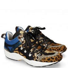 Sneakers Magic 1 Hairon Leo Cappu Beige Stripes Black White Camo Blue Driveway