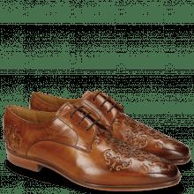 Derby schoenen Emma 7 Tan Lasercut Ethnic