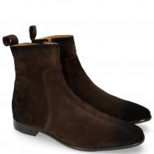 Enkellaarzen Ryan 4 Suede Pattini Dark Brown