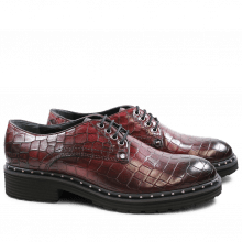 Derby schoenen Sissy 1 Burgundy Rivets Nickel