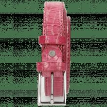 Riemen Linda 1 Crock Dark Pink Classic Buckle