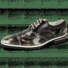 Derby schoenen Clark 45 Brush Off Black White
