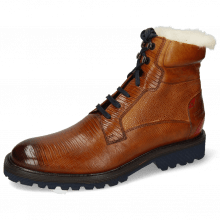 Enkellaarzen Trevor 25 Guana Cognac Scotch Grain Tan Ruby Fur