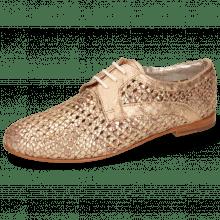 Derby schoenen Monica 1 Woven Rose Gold