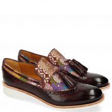 Loafers Amelie 60 Textile Glory Burgundy