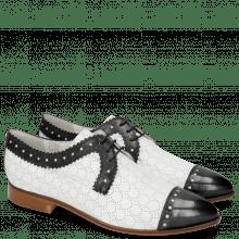 Derby schoenen Jessy 37 Black Nappa Perfo White