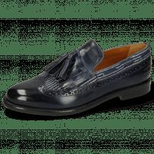 Loafers Selina 3 Marine Textile Blue Tassel