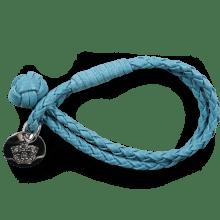 Armbanden Caro 1 Woven Ice Blue Accessory Nickel