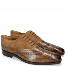 Oxford schoenen Lewis 4 Big Croco New Taupe