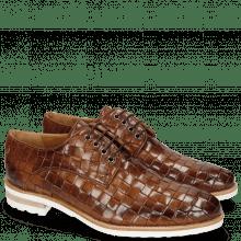 Derby schoenen Brad 7 Woven Lining Rich Tan
