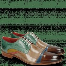 Derby schoenen Toni 39 Nougat Crock Wind Digital Earthly Olivine Bio Algae