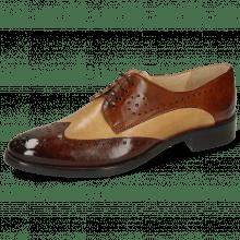 Derby schoenen Betty 3 Imola Mid Brown Sand Wood