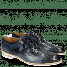 Derby schoenen Henry 7 Navy Wind Sky Blue Woven Navy Modica White