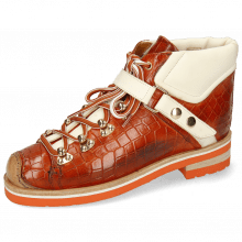 Enkellaarzen Eliza 1 Crock Winter Orange Vegas White