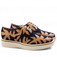 Derby schoenen Molly 11 Jeans Navy Crust Tan XL Ginger White