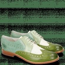 Derby schoenen Amelie 20 Vegas Ultra Perfo White Algae Sweet Green