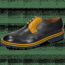 Derby schoenen Matthew 33 Navy Yellow