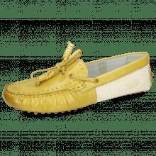 Loafers Caroline 8 Vegas Olivine Perfo White