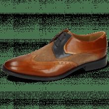 Derby schoenen Victor 9 Venice Wood Suede Pattini Roccia Navy Sand