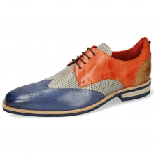 Derby schoenen Dave 2 Imola Moroccan Blue Perfo Digital Earthly Sand
