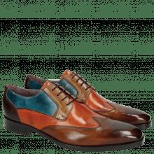 Derby schoenen Lance 9 Wood Orange Tortora Bluette Dark Brown HRS