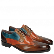 Derby schoenen Lance 9 Wood Orange Tortora Bluette Dark Brown HRS