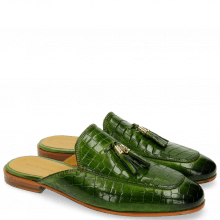 Muiltjes Clive 5 Crock Green Tassel Green