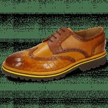 Derby schoenen Matthew 33 Crock Indy Yellow Dice Mid Brown Lizzard