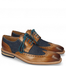 Derby schoenen Marvin 13 Tan Denim Blue