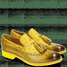 Loafers Amelie 60 Textile Dimon Cedro Yellow
