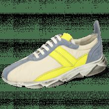 Sneakers Briana 1 Suede Fante Funky Beige Fluo Yellow