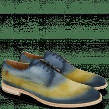 Derby schoenen Ryan 3 Suede Pattini Jute Shade Navy Yellow