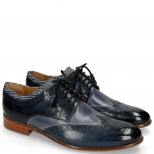 Derby schoenen Henry 23  Navy Blue Sky Tassel