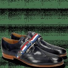 Derby schoenen Clint 2 Navy Strap
