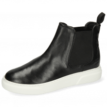 Enkellaarzen Hailey 2 French Nappa Black Elastic Black