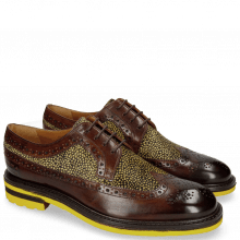 Derby schoenen Trevor 10 Mid Brown Hairon Halftone New Grass